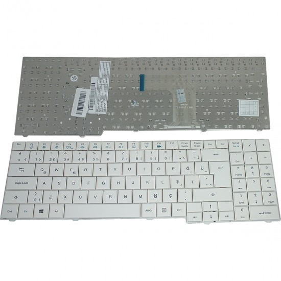 Notebook Klavye - Casper MB50 Notebook Klavyesi - Beyaz - TR