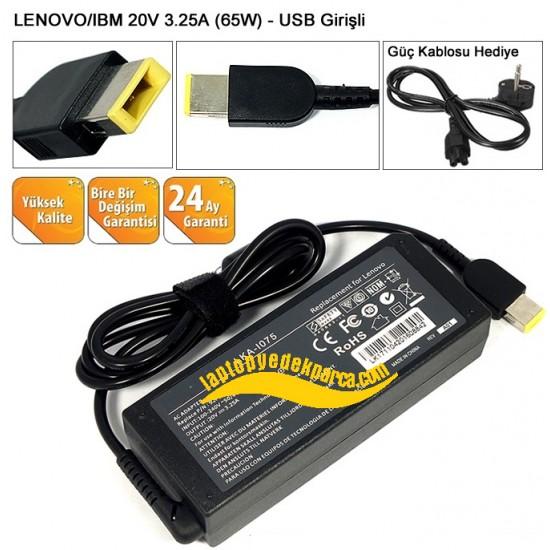 Lenovo 65W 20V 3.25A Dikdörtgen Pinli Uç Notebook Adaptör