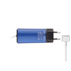 -Color, Apple MacBook 85W MagSafe 2 Mini Adaptör - Mavi