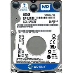 """WD BLUE 2.5"""" 500GB 32MB 5400RPM WD5000LPCX"""