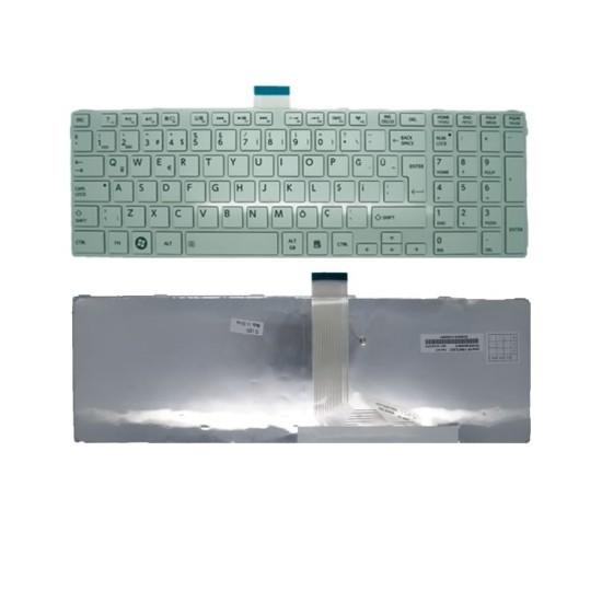 Toshiba Satellite C850, C850D, C855, C855D Notebook Klavye Beyaz Çerçeveli
