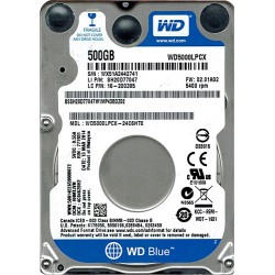 WD 2.5 500GB 5400Rpm 16MB Sata 3 WD5000LPCX Notebook Harddisk